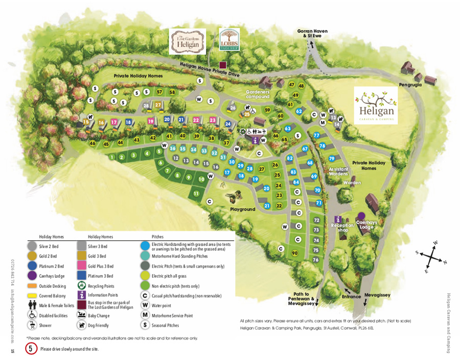 Heligan Woods park layout