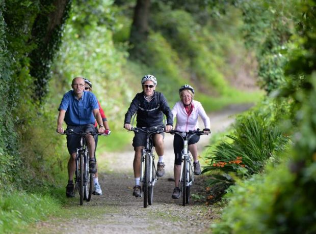 Cycle trails surround us here in south Cornwall
