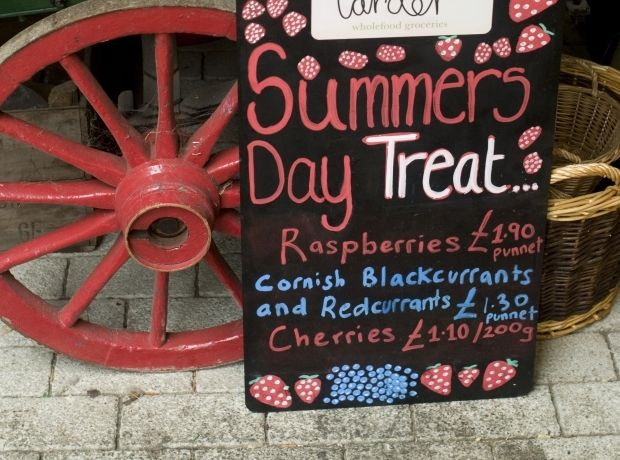 A sign for one of the many summer's day activities across the Cornish county