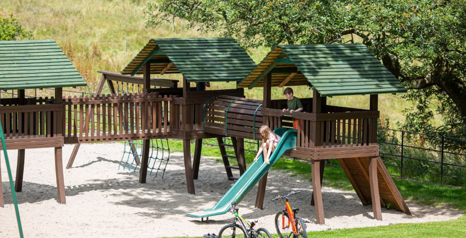 Our site's play area means children can enjoy their time away from home
