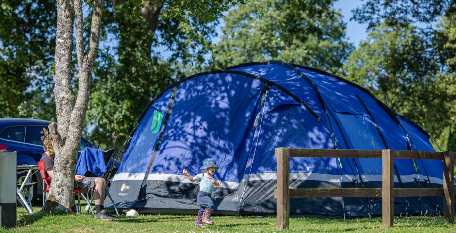 Tents and Camping at Heligan Campsite