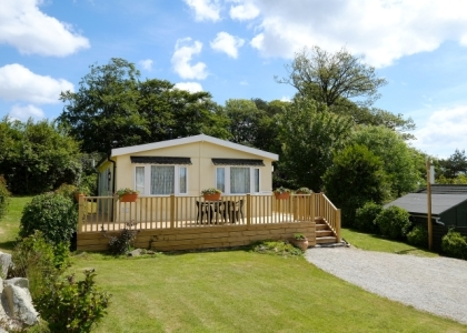 The Caerhays is our deluxe bungalow holiday home